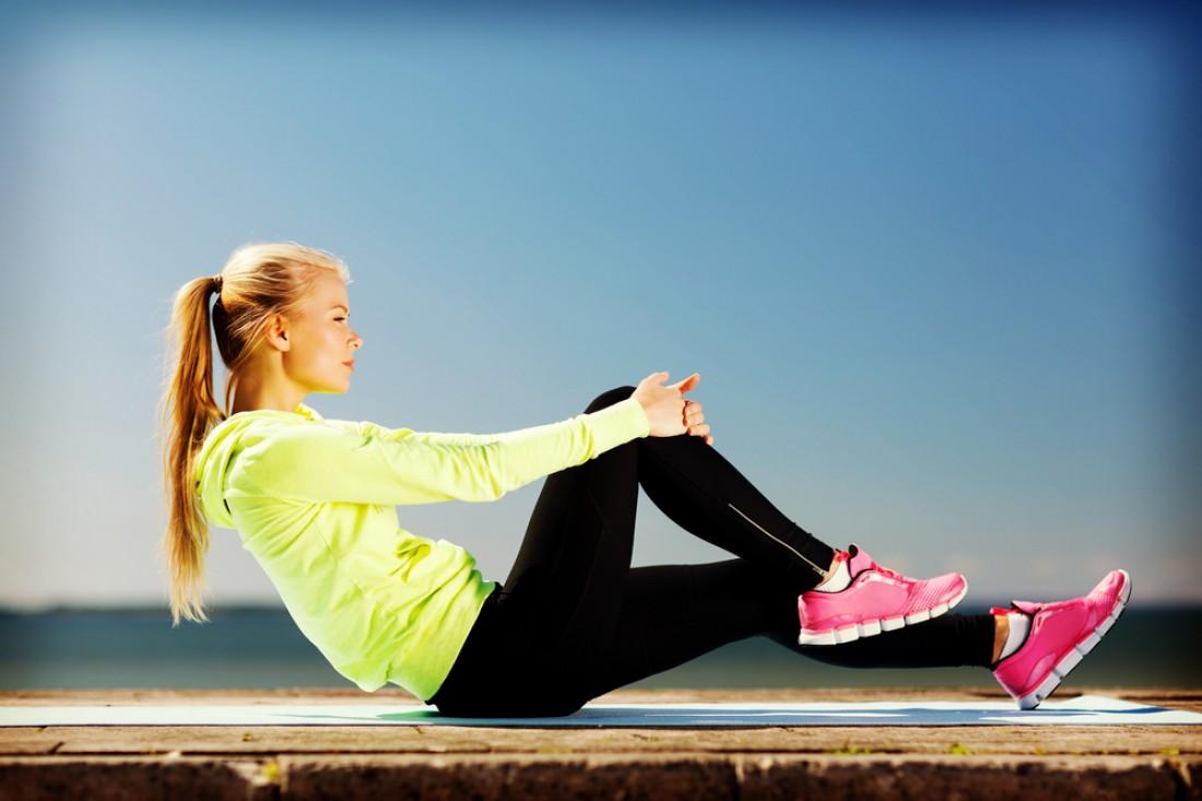 Легкие упражнения для похудения живота и боков